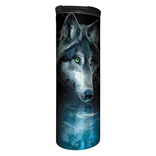 - Tree-Free Greetings BT21270 Barista Tumbler Vacuum Insulated, Stainless Steel Travel Coffee Mug/Cup, 17 Ounce, Wolf Reflection