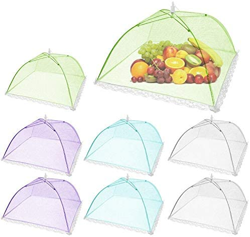 12 Pack Details about  / Pop-Up Mesh Food Covers Tent Umbrella for Outdoors,Screen Tents Pr G7H9