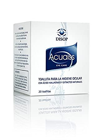 Acuaiss Cleansing Wipes for Ocular Hygiene with Hyaluronic Acid and Aloe Vera. 20 Pre-
