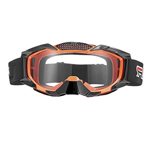 Exceart Safety Glasses Eyewear Personal Protective Equipment Clear Anti Fog Splash Proof Dustproof Eye Glasses for Working Outdoor Orange