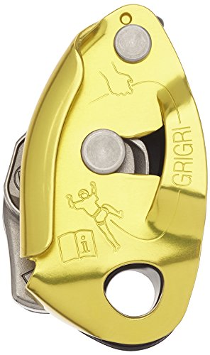 (PETZL - GRIGRI 2, Belay Device with Assisted Braking, Yellow)