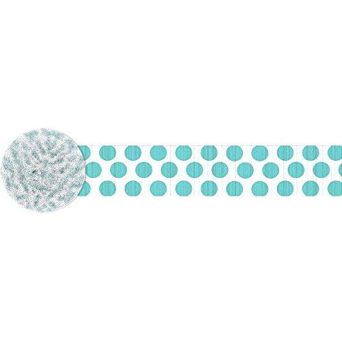 Dots Crepe Streamer | Robin's Egg Blue | Party Decor]()