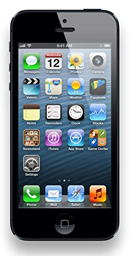 Apple iPhone 5, GSM Unlocked, 16GB - Black (Renewed) (Mobile Phone T 5 Unlocked I)