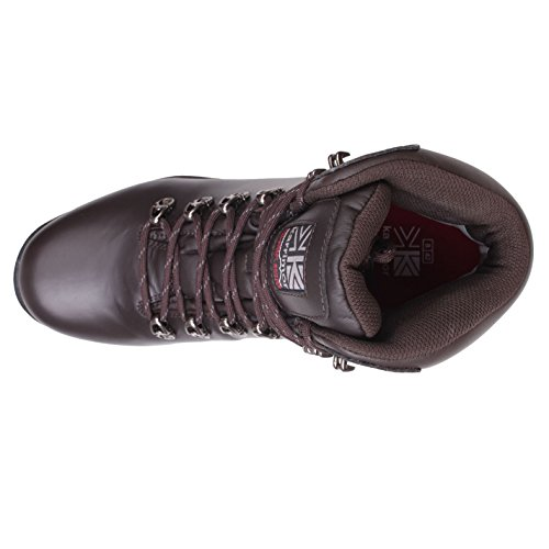Karrimor Mens Skiddaw Walking Boots Impermeabile Occhielli In Metallo Scarpe Traspiranti Marrone