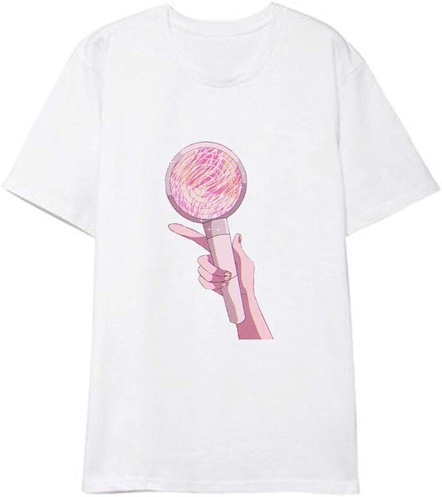 APHT BTS & Blackpink & Exo & Sailor Moon Camiseta Hombro Light Printing Camiseta de Manga Corta Camisa Coreana de Fondo Suelto: Amazon.es: Ropa y accesorios