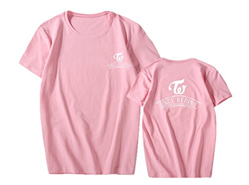 babyHealthy Kpop Twice FM Once Begins Concert Same Style T-shirt Sana Tzuyu Tee ()