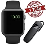 MacBerry A1 Bluetooth Smartwatch With Camera/SIM/TF Card Support & Bluetooth Headset for All Devices (Color may vary)