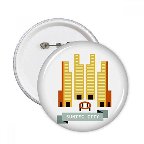 Singapore Suntec City Landmark Round Pins Badge Button Clothing Decoration Gift - City Singapore Suntec