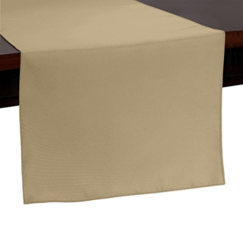 Ultimate Textile -10 Pack- 14 x 72-Inch Polyester Table Runner, Camel Light Brown