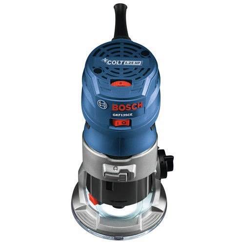 Bosch GKF125CEK-RT 7 Amp 1.25 HP Variable Speed Palm Router (Certified Refurbished)