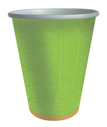 Caspari Entertaining Moire 9-Ounce Paper Cup, Lime by Caspari (Image #1)