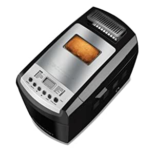 Breadman BK2000B 2-½-Pound Bakery Pro Bread Maker with Collapsible Kneading Paddles and Automatic Fruit and Nut Dispenser