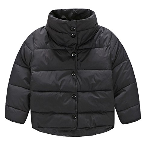 Stand Down Coat Collar Button Chic Infant Boys Jacket Outwear Down Lemonkids Black Z7Wnftq