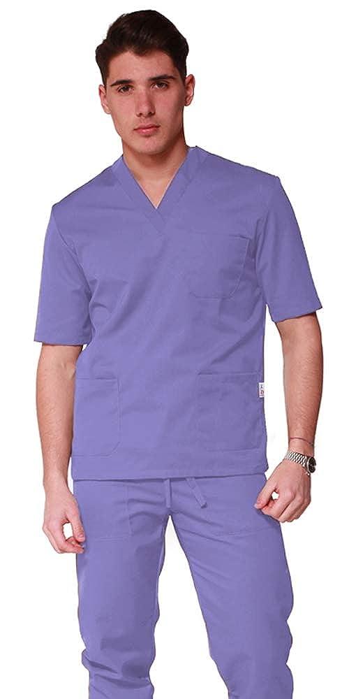 RICAMO GRATUITO Divisa Ospedaliera unisex uomo donna in cotone sanforizzato preristretto Sanitaria Medicale per Medico Infermiere Oss Estetista MADE IN ITALY casacca scollo a V pantalone