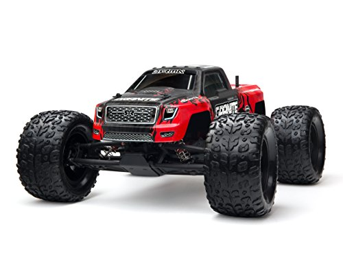 ARRMA GRANITE MEGA RTR Remote Control 2WD Electric RC Monster Truck with 2.4GHz Radio, 7.2V 2000mAh NiMH Battery, and Charger, 1:10 Scale, Red