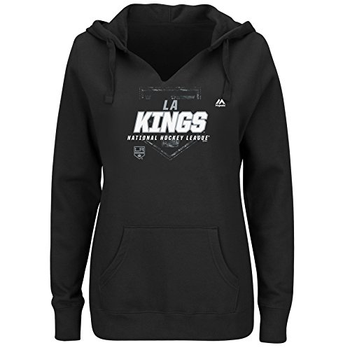 NHL Los Angeles Kings Adult Women NHL Plus Notch Neck Fleece Hood with Screen ()