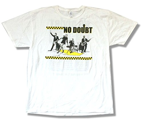 No Doubt Checkers North American Tour 2009 White T Shirt Soft (XL)