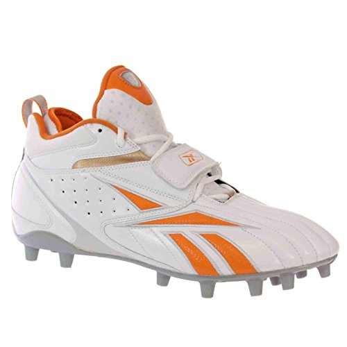 PRO Orange Football MP BLITZ 12 Mens White Reebok M Silver FULL STRAP Shoes dYn1pAzq