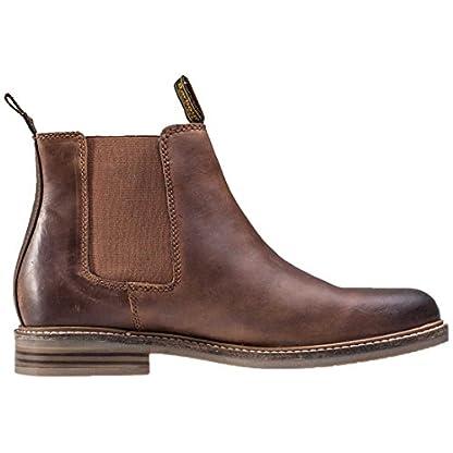 Barbour FARSLEY Chelsea Boots Dark Tan 6