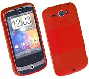 Resin Soft Jelly Case for HTC Wildfire (Red)