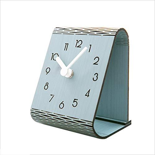 Light Years Desk Clock, American Minimalist Wooden Mantle Clock Mute Table Decoration Decoration Quartz Clock ()