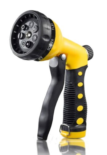 Pretmanns Eco Range Yellow Hose Nozzle Hand Sprayer with 7 Spray Settings