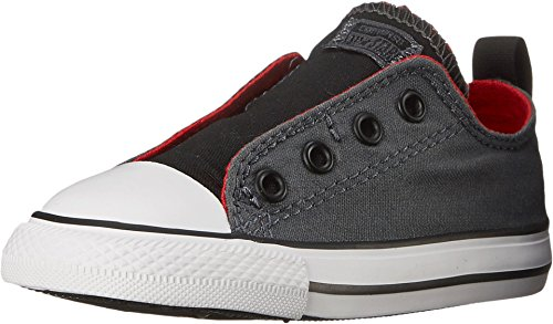 Converse Kids Baby Boy's Chuck Taylor All Star Simple Slip (Infant/Toddler) Thunder/Casino/Black 7 Toddler M