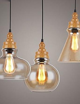 NASEN Colgante de luces LED 220V Norte Americanas de madera ...