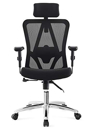 Ticova Ergonomic Office Chair High Back Breathable Mesh Chair with Adujustable  Headrest, Armrest and Lumbar Support – Reclinable Desk Chair Computer Chair with Thick Shaping Foam Seat Cushion