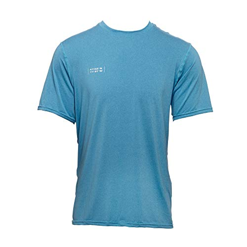 WETSOX (50+ UPF Sun Protection & UV Cooling Shirt/Short Sleeve/Moisture Wicking Blue (Best Cyber Monday Clothing Deals 2019)