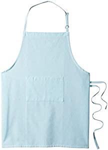 DII 100% Cotton Unisex Bib Kitchen Chef Chambray Gray Apron with Front Pocket