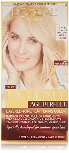 L'Oreal Excellence Age Perfect Layered-Tone Flattering Hair Color - #10N Very Light Natural Blonde (Pack of 3)