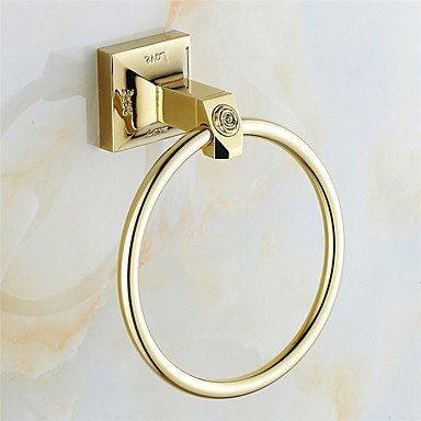 AMEA Mordern Gold Color Luxury Brass Rose Pattern 4pcs Bathroom Accessory Set by AMEA (Image #3)