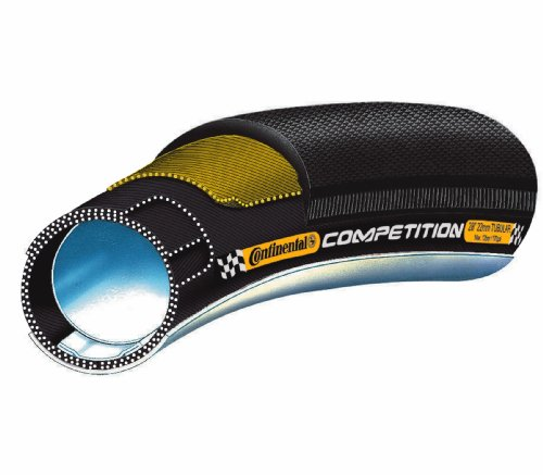 Continental Competition Tubular Road Bicycle Tire with Black Chili (28x25 (27x1), Tubular, - Competition Continental Tubular Tire