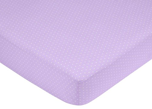 Sweet Jojo Designs Mod Dots Purple and Brown Fitted Crib Sheet for Baby and Toddler Bedding Sets - Mini Dot