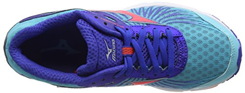 Fiery Coral de Compétition Turquoise Turquoise Running Wave Femme Dazzling Capri Chaussures Mizuno 4 Sayonara Blue qn7xPwFZI