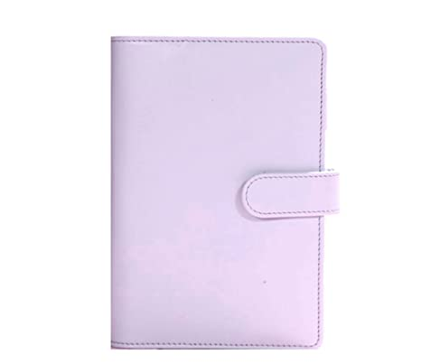 assion leather spiral notebook Original office personal diary/week planner/agenda organizer Cute ring stationery binder purple A5