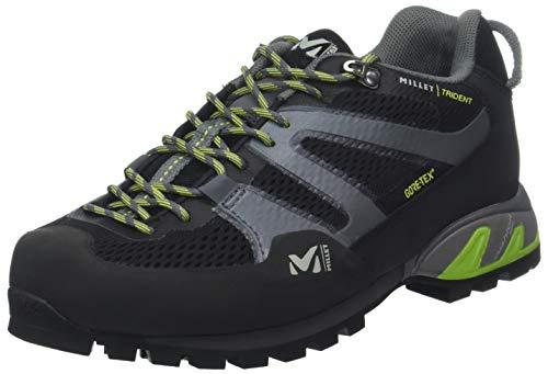 Millet Trident GTX, Zapatillas de Senderismo Unisex Adulto Multicolor (Black/Acid Green 000)