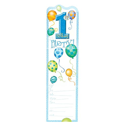 1st Birthday Invite - Blue 1st Birthday Invitations, 8ct