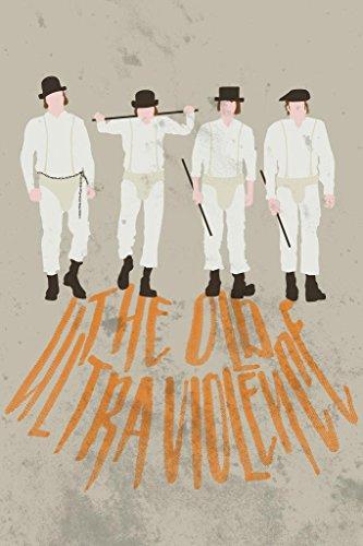 The Old Ultra Violence Minimalist Movie Poster 24x36 (Droogs Clockwork Orange Costume)