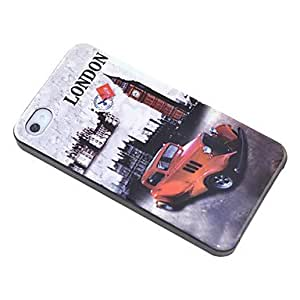 TLB Big Ben Bubble Car Pattern Hard Case for iPhone 4/4S