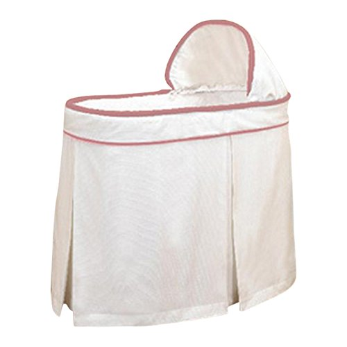 bkb Forever Mine Trim Bassinet Set, Pink
