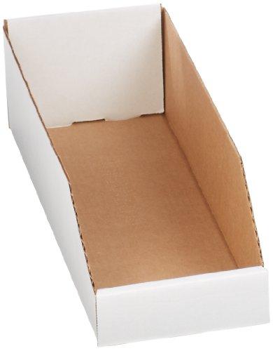 Corrugated Shelf Bins - Aviditi BINBWZ618 Corrugated Open Top Bin Box, 18