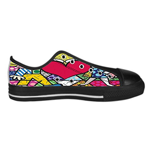 Dalliy Romero Britto Mens Canvas shoes Schuhe Lace-up High-top Sneakers Segeltuchschuhe Leinwand-Schuh-Turnschuhe C