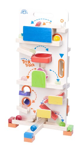 Marble Launcher - Wonderworld Creative Gravity Play! Trix Tracks Tower Launcher - 20 Piece Set Unique Kids Toy with Endless Building Options
