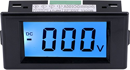 Yeeco DC 0-600V LCD Display Digital Voltmeter Voltage Meter Gauge Power Supply AC/DC 8-12V Voltage Measuing Volt Panel Meter Testing