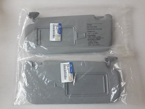 (HYUNDAI Genuine Parts 07~10 Elantra Driver Left Passenger Right Inside Sun Visor Gray 2EA=1SET )