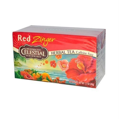 Celestial Seasonings Tea Caffeine Free Herbal Tea, Red Zinge