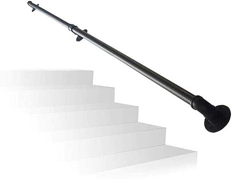 ARMREST - Barandilla Industrial para Escalera, Resistente Hierro para escaleras, Hierro para escaleras, pasamanos, rieles de Pared, Barra de Apoyo para Corredor, Color Negro [Varias Longitudes]: Amazon.es: Deportes y aire libre