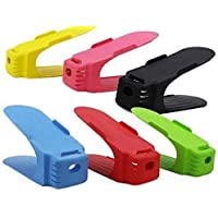 HomeFast Plastic Shoe Organizer (Multi) (6 Pcs)